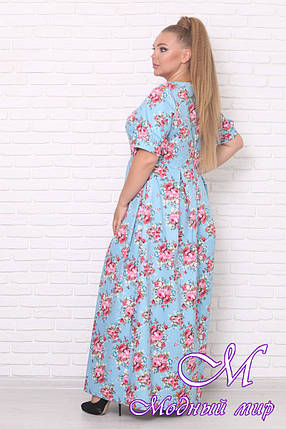 Летнее платье с цветами батал (р. 42-90) арт. Мирослава, фото 2