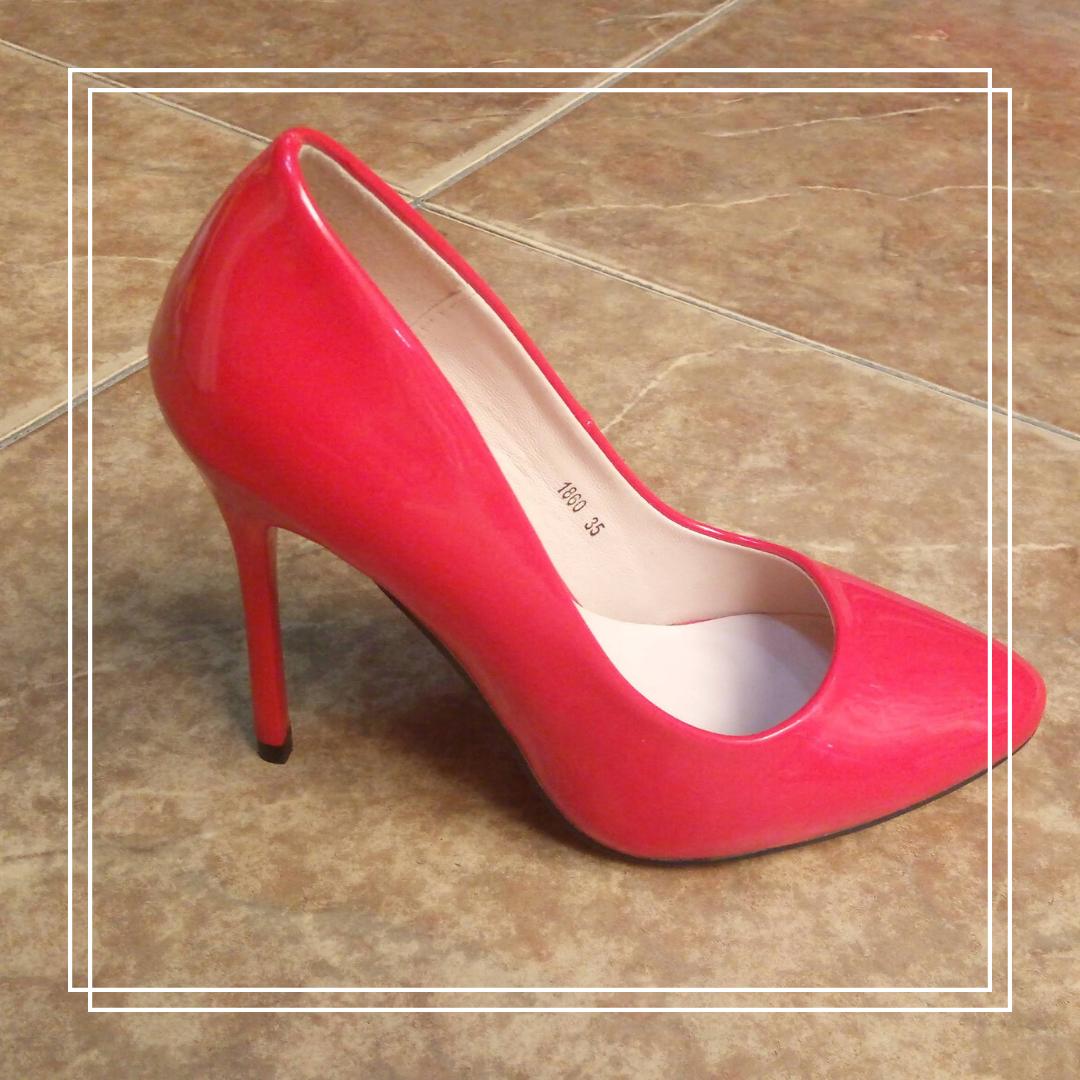 Женские туфли MeiDeLi 1860 красный лак, 35