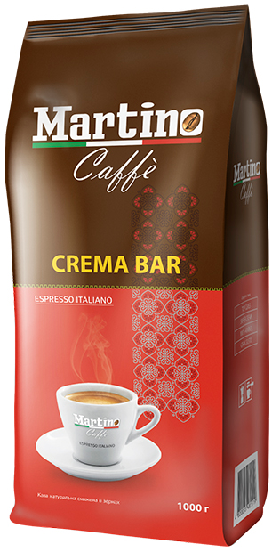 Кофе в зернах Martino Caffe Crema Bar 1 кг.