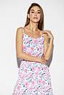Женское летнее платье-сарафан, белое с цветочным принтом, штапель, повседневное, пляжное, длинное, макси,в пол, фото 2