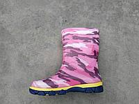 Детские сапоги розовый камуфляж Литма 23-26