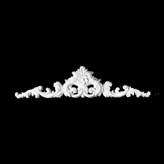 Фронтон Orac Luxxus,D170, 105x24.5x3.2см, ліпний декор з поліуретану