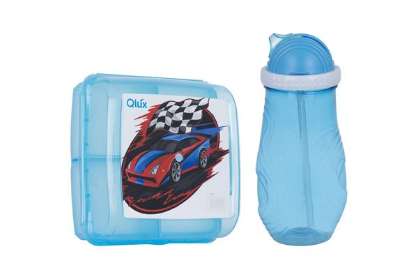 Контейнер пл. Qlux  Набір дит. ланч-бокс, пляшка MIX (L-00703)