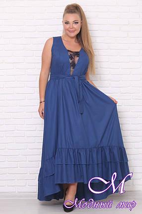 Нарядное летнее платье больших размеров (р. 42-90) арт. Сильвия, фото 2