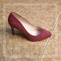 Женские туфли Loretta A35-19 бордо замша круглый нос, 36