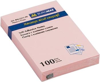 Блок стикеров Buromax 76x51 мм, 100 л., розовый, голубой, зеленый