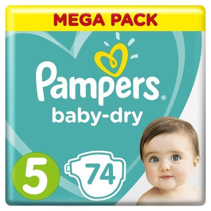 Подгузники Pampers Baby-Dry Размер 5 (Junior) 11-16 кг, 74 подгузника