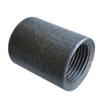 Муфта стальная приварная чёрная Ду 15  L 28 mm