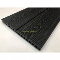 Террасная доска из ДПК Renwood Terrace 3D, размер 139х22х2200мм/3000 мм, цвет Антрацит