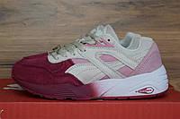 Женские кроссовки в стиле Puma Trinomic Sakura, бордовые с розовым 37 (23,5 см)