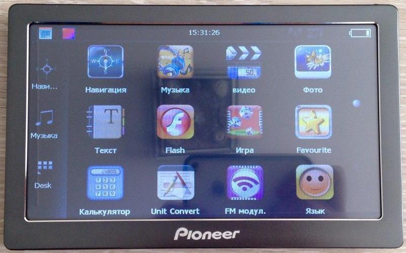 "Gps Навигатор 7"" Pioneer PI-708 HD 4Gb, 800 MHz"