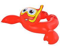Круг для плавания «Морские приключения» от 3-6 лет, красный, фото 1