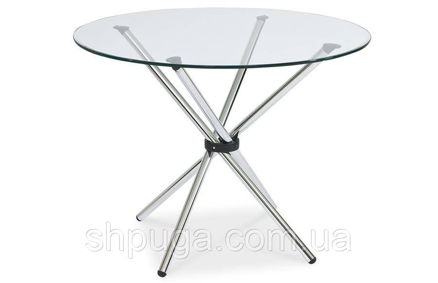 Стол Тог, стеклянный, обеденный, металл, диаметр 90 см