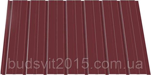 Профнастил ПС 8*940*2000 RAL (вишня) ИНДАСТРИ (0,2)