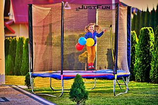 Батут Just Fun 252 см с сеткой и лестницей синий, фото 2