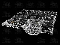 Icy/Glacier Тортница на ножке на ножке d32 см богемское стекло Bohemia