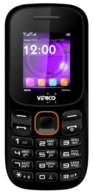 Мобильный телефон Verico A182 Black-Orange Гарантия 12 месяцев