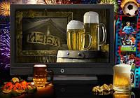 Просмотр телевизионных передач под пиво в кафе