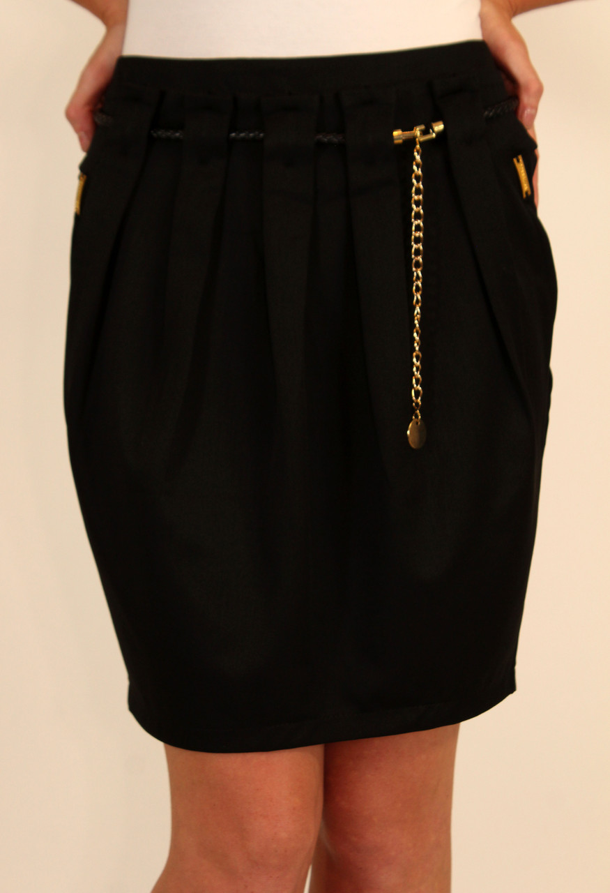 Молодежная  юбка с поясом-цепочка 42-48 р