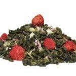 Зелёный чай Клубника со сливками