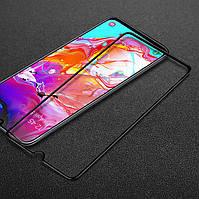 Защитное стекло LUX для Samsung Galaxy A70 2019 (A705) Full Сover черный 0,3 мм в упаковке