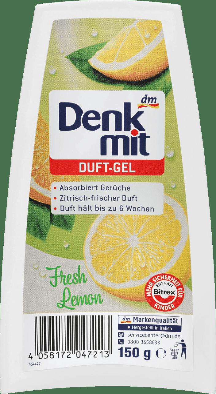 Гелевый освежитель воздуха Denkmit Duft-Gel Fresh Lemon, 150 гр.