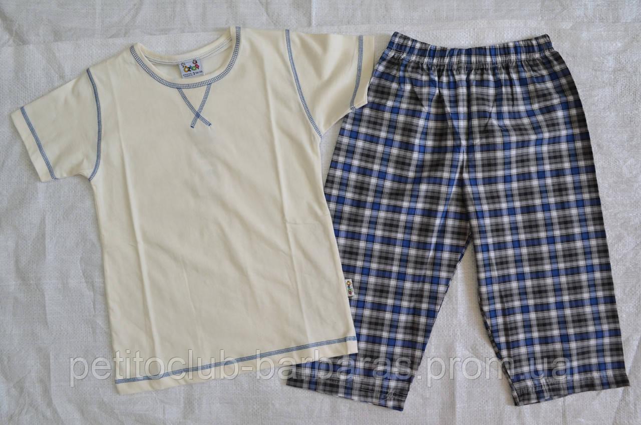 Пижама летняя для мальчиков: футболка с коротким рукавом и шорты р.110-116 см (OZTAS, Турция)