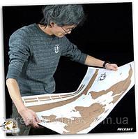 Scratch map: настенная Scratch -карта мира в подарочном тубусе (English)