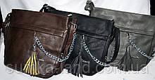 Жіночі маленькі сумки на ремінці 26*25 см (чорний, сірий, каштан)