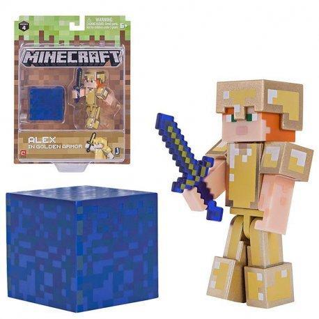 Игровая фигурка Jazwares Minecraft Алекс в золотой броне серия 4 (19970M)