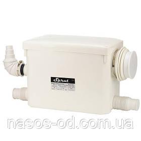 Канализационная станция Sprut WCLift 400/3 для санузлов 0.4кВт Hmax6м Qmax145л/мин
