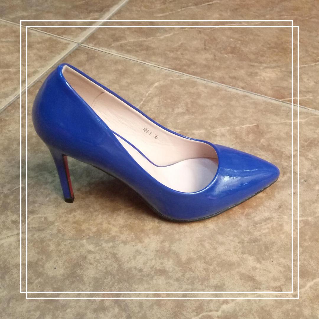 Женские туфли MeiDeLi 106-1 синий лак, 36
