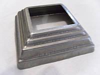 Маскировочный элемент квадратный 80*80 мм отверстие 40*40мм накладка на трубу, фото 1