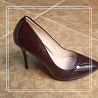 Женские туфли MeiDeLi 1860 тёмно-коричневый лак, 39
