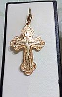 Крестик позолоченный Спаси и сохрани
