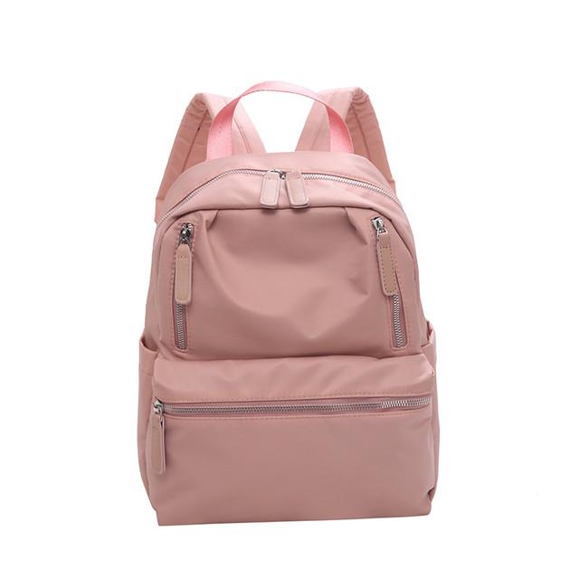 Женский рюкзак нейлон розовый