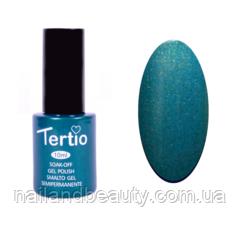 Гель-лак Tertio Темно-зелений з микроблеском №153 10 мл