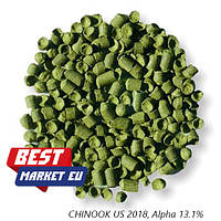 Хмель CHINOOK US 2018, Alpha 13.1% 100 грамм
