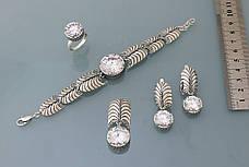 Браслет из серебра 925 пробы с цирконием, фото 3