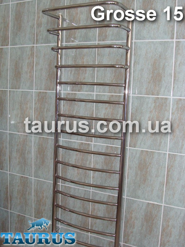 Полотенцесушитель Grosse 15+4/ 1550x500 нержавеющая сталь: электрический, водяной, гибридный
