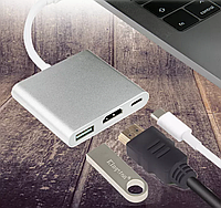 Адаптер 4K USB Type-C 3.1 -> HDMI/ТВ/USB 3.0/USB-C/OTG Multiport