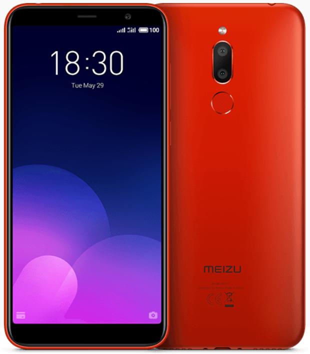 """Meizu M6t Red 2/16 Gb, 5.7"""", MT6750, 3G, 4G"""