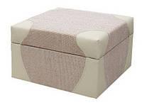 """Пуфик мебельный """"Квадро"""" 65х65х44 см. Ткань на выбор"""