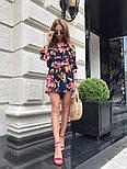 Женский костюм с шортами цветочный принт (в расцветках), фото 2