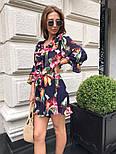 Женский костюм с шортами цветочный принт (в расцветках), фото 5