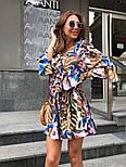 Женский костюм с шортами цветочный принт (в расцветках), фото 6
