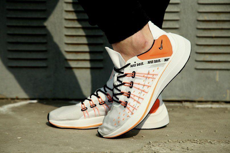 Мужские кроссовки Nike Exp-X 14 Just do it pack 'Black/White' белые и черные