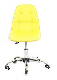 Кресло мастера Alex ЭкоКожа, желтый