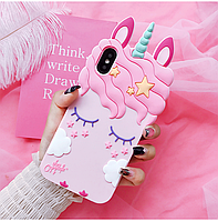 Чехол на iPhone ХS MAX Единорог розовый, фото 1