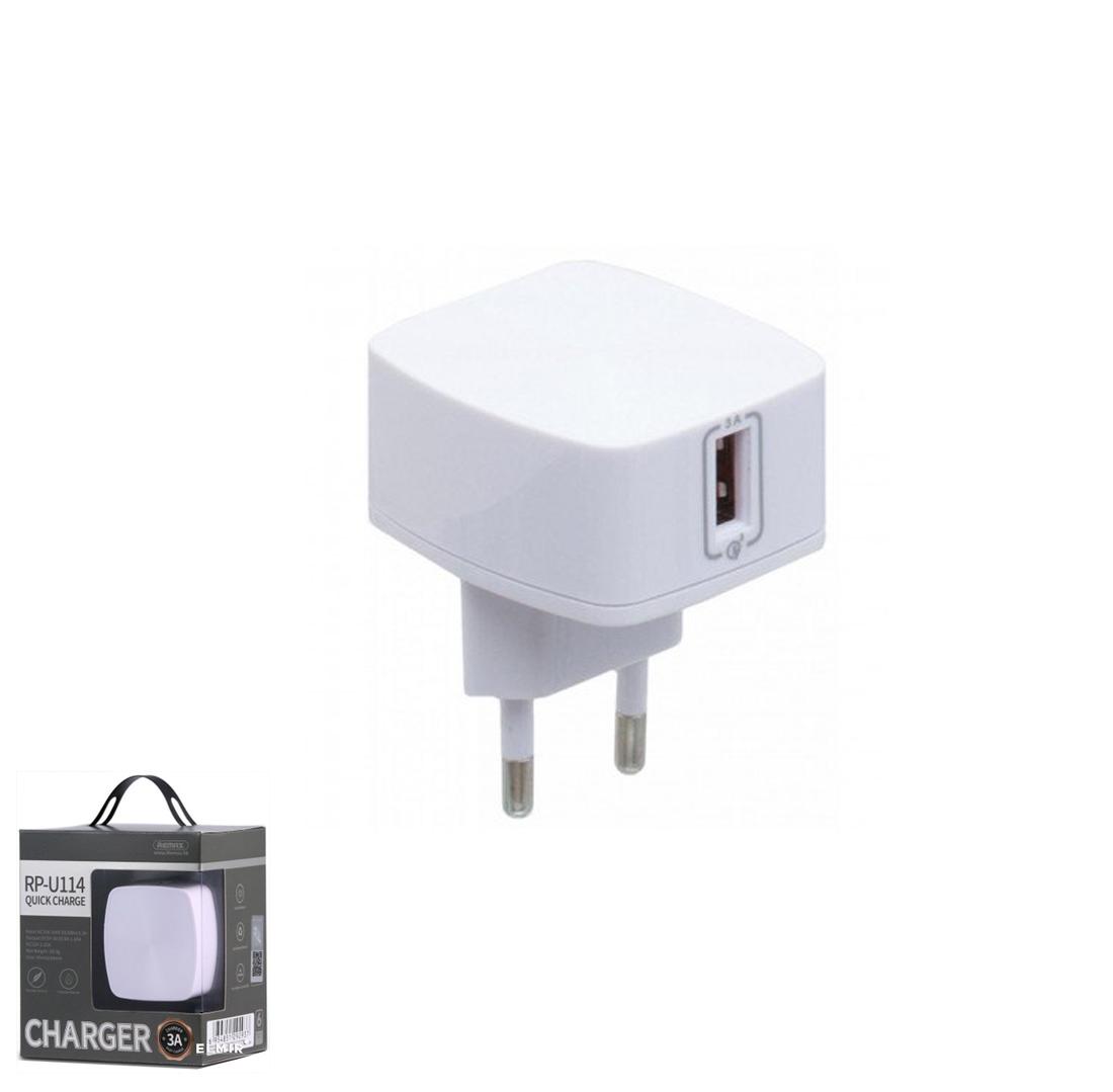 Зарядное устройство Remax 3.0A Single USB Charger RP-U114 White